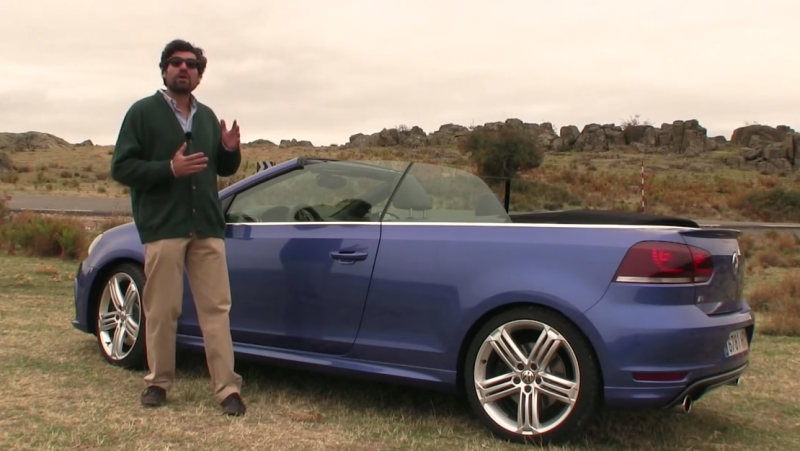 Foto estática del coche deportivo VW Golf R Cabrio.